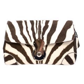 Ralph Lauren Pony Hair Zebra Print Bag