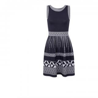 Maje Sleeveless Jacquard knit dress