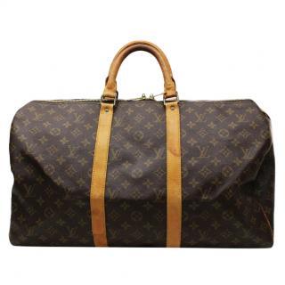 Louis Vuitton Keepall 50 Monogram Boston Bag