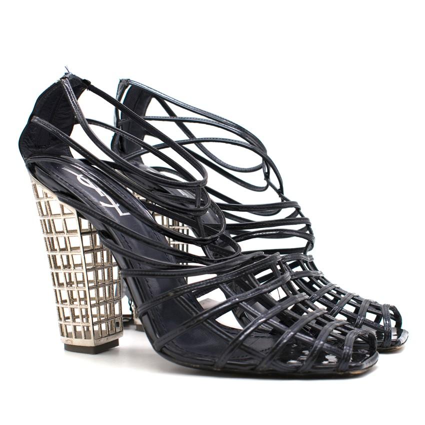 Yves Saint Laurent Caged Heeled Sandals