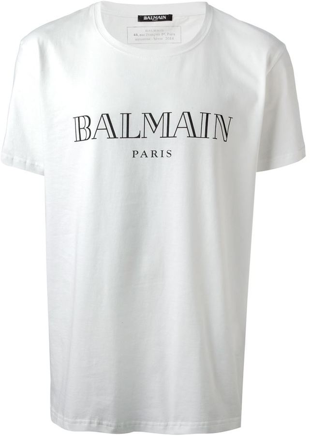 3e765882 Balmain White Logo Tshirt | HEWI London