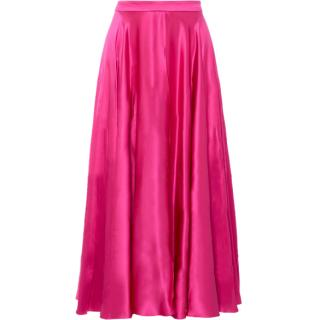 Gucci High Waisted Silk Satin Midi Skirt - Current Season