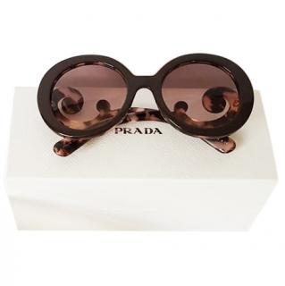 Prada Baroque Tortoiseshell Sand Sunglasses