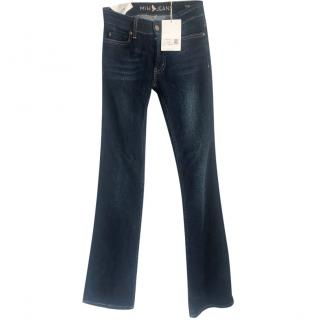 MIH mid rise boot cut jeans