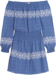 Tory Burch Bardot Embroidered Dress