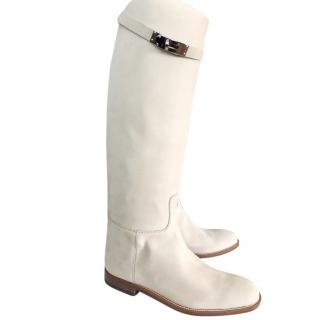 Hermes Suede Beige Jumping boots