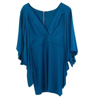 matthew Williamson batwing sleeved turquoise dress