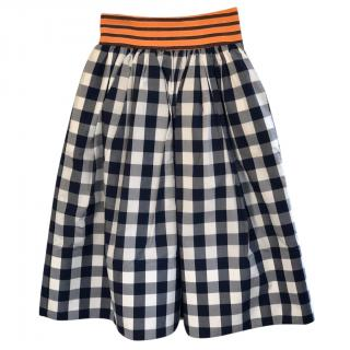 Stella Jean Primula Gingham Skirt