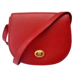 Burberrys Red Leather Shoulder Bag