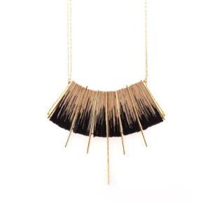 Michael Taharlev Shibori Necklace Black / gold