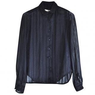 Balenciaga Paris semi-sheer black shirt