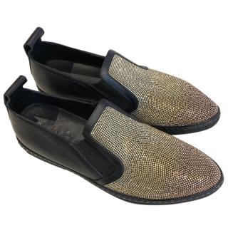 Jimmy Choo Studded Loafers 44 Brand New