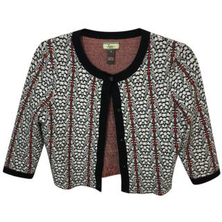 Issa London Printed Knit Cropped Cardigan
