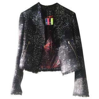 MSGM  glitter biker Jacket