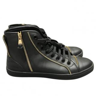 Louis Vuitton Black and Gold High Top Trainers