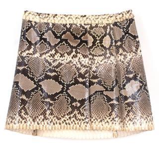 Dolce & Gabbana Python Wrap Skirt