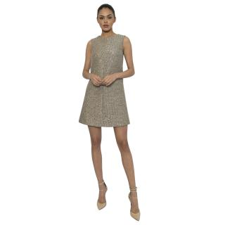 Saint Laurent Metallic Tweed Shift Dress