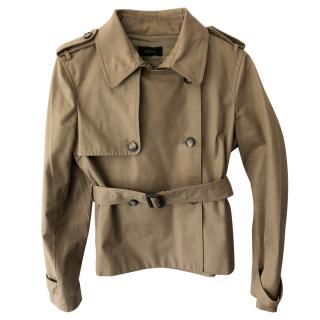 Joseph Khaki Belted Trench Coat
