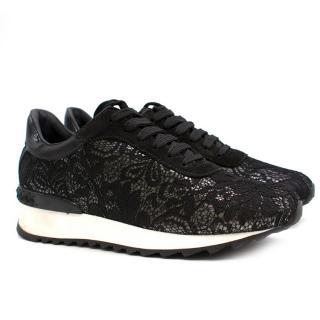 Casadei Black Lace Sneakers