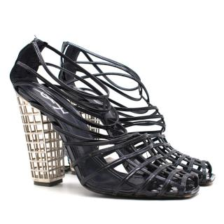 Yves Saint Laurent Caged Heeled Sandals