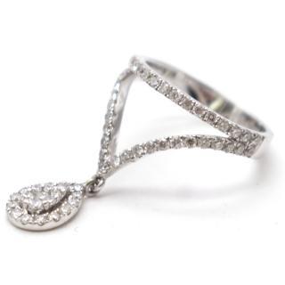Bespoke Diamond 18k 750 White Gold pinkie Ring