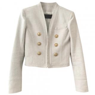 Balmain cropped  cream blazer/jacket