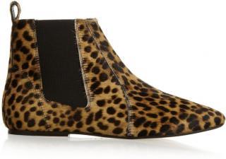 Isabel Marant Leopard Print Chelsea Boots