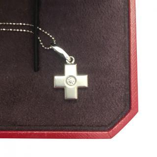 Cartier Diamond White Gold Diamond Set Cross & Chain