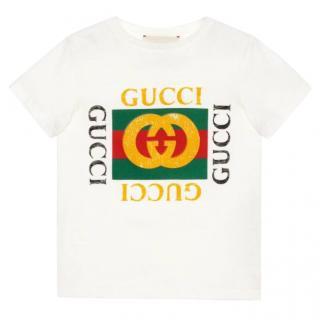 Gucci Kid's Logo Tee
