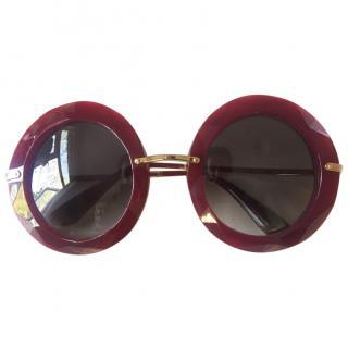 Dolce & Gabbana Burgundy perspex sunglasses