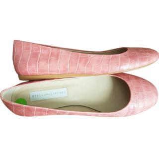 Stella McCartney pink mock croc ballerina shoes