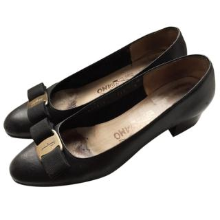 SALVATORE FERRAGAMO Varina black ballet flat shoes
