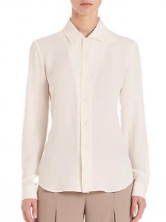 Ralph Lauren Collection Cream Georgette Silk blouse