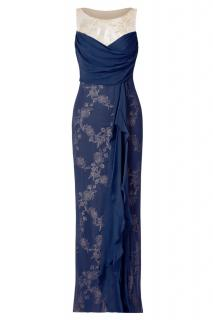 Marchesa Notte Louisa gown silk and lace illusion