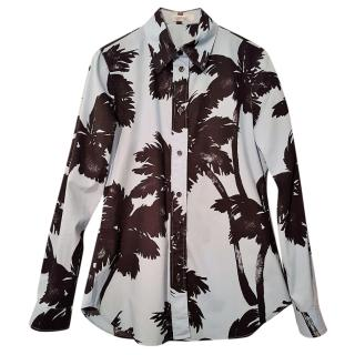 MOS CHINO blue/black print Shirt