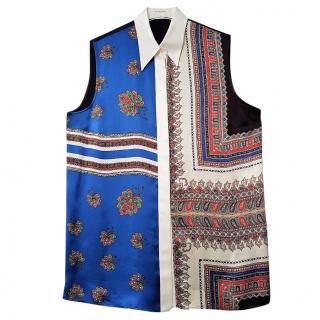 GIVENCHY printed silk sleeveless Blouse