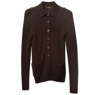 MAXMARA Black Button Front Cardigan