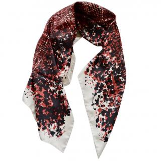 Bottega Veneta black-red printed silk scarf