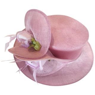 Philip Treacy pink ascot hat