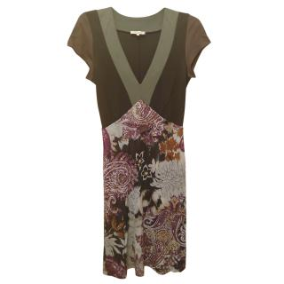 ETRO printed v neck dress