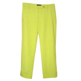 VERSACE acid yellow trousers, size 42