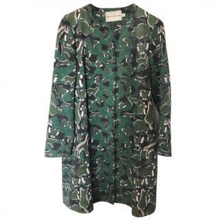 Mary Katrantzou Green Print Coat