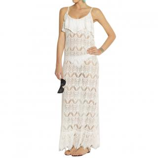 Melissa Odabash cream Jamie lace maxi dress beach