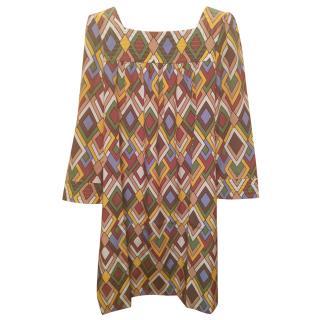 M MISSION geometric pattern dress