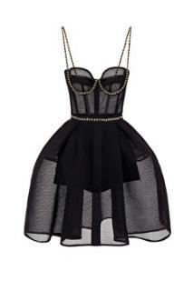 Elizabeth Franchi Chain mini dress