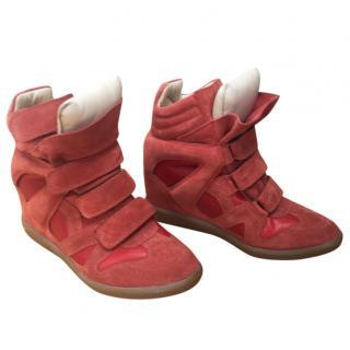 Isabel Marant Bekett suede high top sneakers