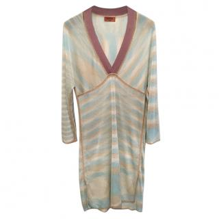Missoni Mare aqua striped kaftan dress