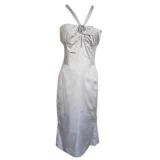 Gucci by Tom Ford Silver Silk cocktail dress