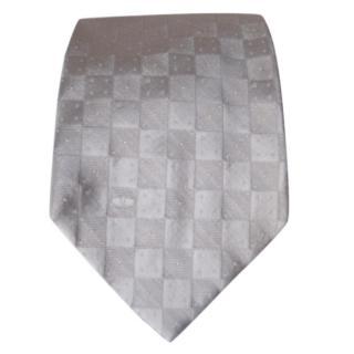 Valentino grey silk tie