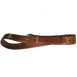 Paloma Picasso Tan and Gold belt